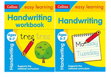 EASY LEARNING ENGLISH AGES 5 - 7 KS1  - 2 BOOK HANDWRITING BUNDLE
