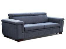 Schlafsofa mit integrierter Matratze JIMO Sofa Couch Schlafcouch Grau-Blau