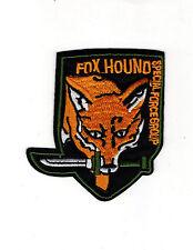 Metal Gear Fox Hound Patch 3 1/2 inch Set of 2