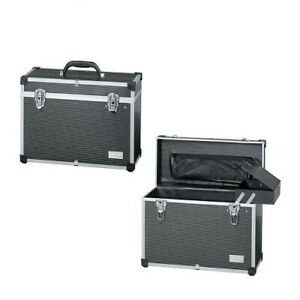 Comair Tool Box Aluminum Black Storage Portable Hairdresser Cosmetics