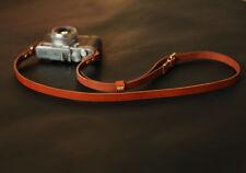 Handmade brown leather best camera neck shoulder strap adjustable | windmup