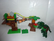 LEGO DUPLO dinowelt 5597-grande T-Rex Verde-PIETRA-ZOO-completamente TOP!