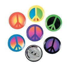 48 Metal Peace Sign Mini Buttons