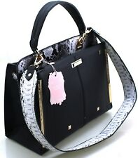Ladies Designer Faux Leather Snakeskin Briefcase Satchel Shoulder Tote Handbag
