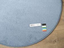 6892 DURA AIR runder Teppich 100 cm Kettelteppich rund hell blau Kräuselvelours