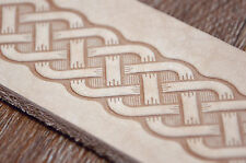 Celtic Style Leather Belts Embossing Stamp. For embossing VegTan Tooling Leather