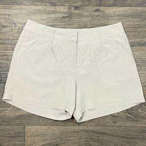 Tommy Bahama Linen Silk Blend Light Beige Womens Shorts Sz. 8