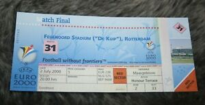 le Ticket entier )) FRANCE V ITALIE - Rotterdam -  finale EURO 2000
