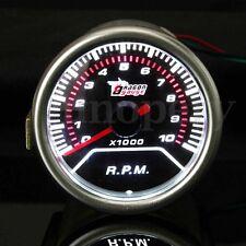 12V 52mm UNIVERSAL CAR AUTO MOTOR LED TACHOMETER TACHO GAUGE METER POINTER RPM