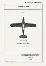 PILATUS P.2-05/06 MANUEL DU PILOTE / HANDBUCH FÜR PILOTEN + BROCHURE