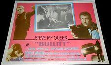1968 Bullitt ORIGINAL MEXICAN LOBBY CARD Steve McQueen Jacqueline Bisset E