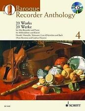 BAROQUE RECORDER ANTHOLOGY   VOL. 4: 23 WORKS FOR ALTO    RECORDER AND PIANO BOO
