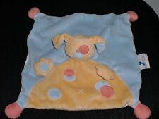 Doudou plat chien jaune bleu rose NATTOU (2 dispo)