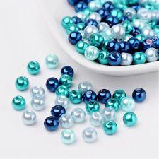 50 Stück Trend Pastel Glas Perlen Schmuck 6 mm Zubehör Bastelset Basteln neu B4R