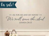 Joshua 24:15 Bible Verse Vinyl Wall Stickers Decals Scripture Quote Word Decor