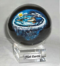 Flat Earth Map Dome Display Model - Crystal base