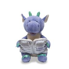Cuddle Barn Dalton Storytelling Dragon Recites 5 Fairy Tales Light Up Book Plush