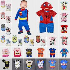 Newborn Baby Boy Girl Cartoon Romper Bodysuit Jumpsuit Outfit Costume Clothes
