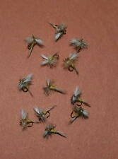 Wulff Sulphur dry fly, size 16, 12 flies total