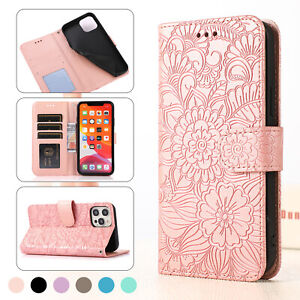 Leather Wallet Card Flip Stand Case For iPhone 12 11 Pro Max XS XR 8 7 6 Plus SE
