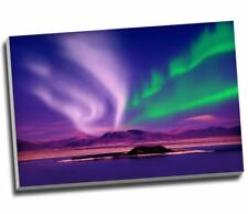 Purple Island Northern Lights Aurelia Borealis Canvas Print Large A1 30x20""
