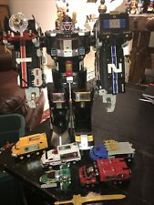 Nice Complete Power Rangers Deluxe Super Train &  Light Speed Megazords w/ Sword