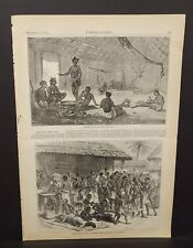 Harper's Weekly 1 Pg Ashantees Buying Muskets With Gold-Dust Assinee 1873 B14#94