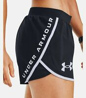 Under Armour Women's UA Fly By 2.0 Stunner Shorts - Black 1356199-001 XS NWT