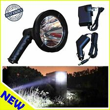 100W LED Handheld  Light 5 inch Rechargeable Spotlight Hunting Shooting T6 12V