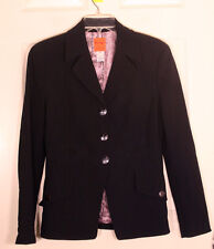 Bazar de Christian Lacroix France Navy Blue Wool Blazer Jacket Womens EUR SZ 42