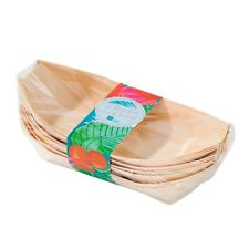 Wooden Party Tableware - Wooden Party Food Dishes: Pack of 12