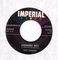 FATS DOMINO * 45 * Country Boy * 1960 * USA ORIGINAL Vinyl Press * VG Imperial