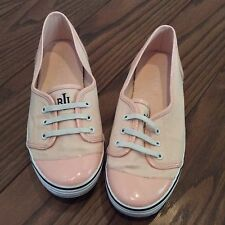 Ralph Lauren Women's Sneakers Size 8 M Pink Canvas Patent Great Condition