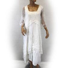 NEW NWT Nataya Plus Size Vintage Titanic Wedding Ivory Bridal Dress Slip Set 2X
