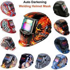Auto Darkening Welding Helmet Mask Arc Tig Mig Grinding Welder Solar Powered