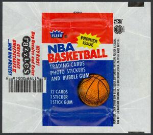 1986-87 Fleer Basketball Wax Pack Wrapper (Razzles Variation) Jordan RC - NM-MT