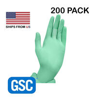 200/Box Top Quality NITRILE Hypoallergenic Gloves GREEN