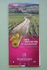 Carte touristique Route des vins de Bourgogne France - Touristic map