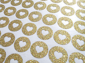 60 Gold Glitter Hershey Kisses stickers with heart, gold baby shower labels