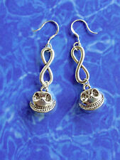 SP Nightmare Before Christmas Corpse Bride JACK skellington EARRINGS,.925 hooks