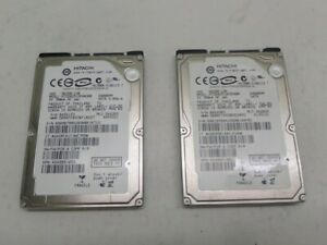 """Lot Of 2 Hitachi 5K250-120 HTS542512K9SA00 120GB 2.5"""" SATA Laptop HDD"""