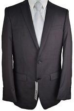#x323 NEW DKNY Black Pindot 100% Wool Two Button Skinny Suit 44L/38W $400