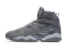 2bbbfe1431f Nike Air Jordan 8 Retro COOL WOLF GREY SUEDE BLACK 305381-014 7 AQUA OVO