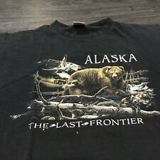 Vintage 90's Alaska Last Frontier T-Shirt Men's XL Single Stitch Outdoor Bear