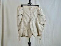 Style & Co. Bermuda Mid Rise Elastic Waist 6 Pockets Khaki Shorts NEW NWT - 22W