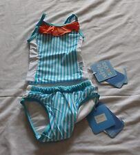 Baby Girls size 0 STRIPES tankini bather top  & SWIM NAPPY UPF50+  NEW