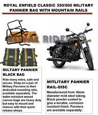 Royal Enfield Classique 350cc/500cc Militaire Panier Sac Avec Mountain Rails