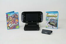 Nintendo Wii U 32GB Premium Pack Black Console Bundle 2 Games Splatoon FREE P+P