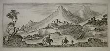 STEFANO DELLA BELLA `LANDSCHAFT MIT DEM FORT´ DE VESME/M 751, RADIERUNG, ~1641