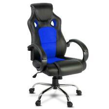 Artiss OCHAIR-G-R22-BL Racing Style PU Leather Office Desk Chair - Blue